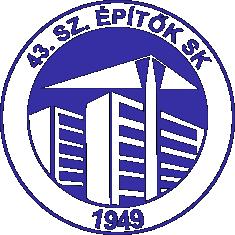 43-as logó kék-fehér